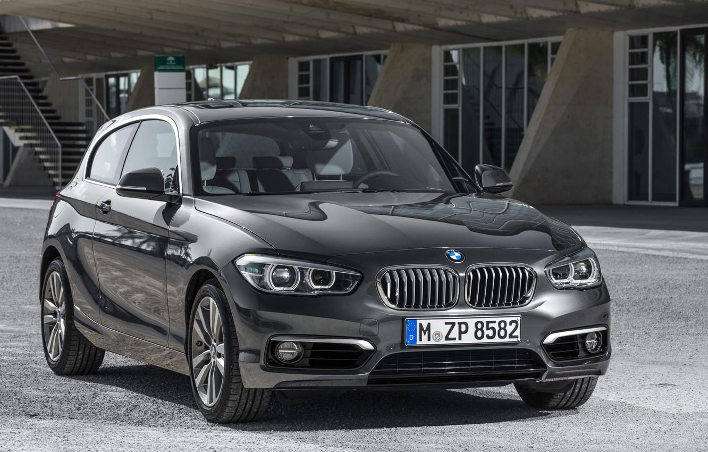 Photo wallpaper photo, Black, BMW, Car, 2015, Metallic, Urban Line, 120d