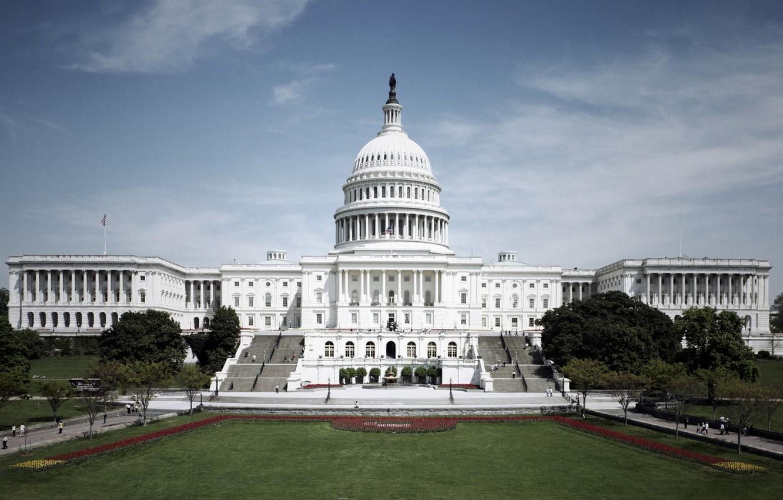 Photo wallpaper Washington, USA, usa, Capitol, Congress, Capitol
