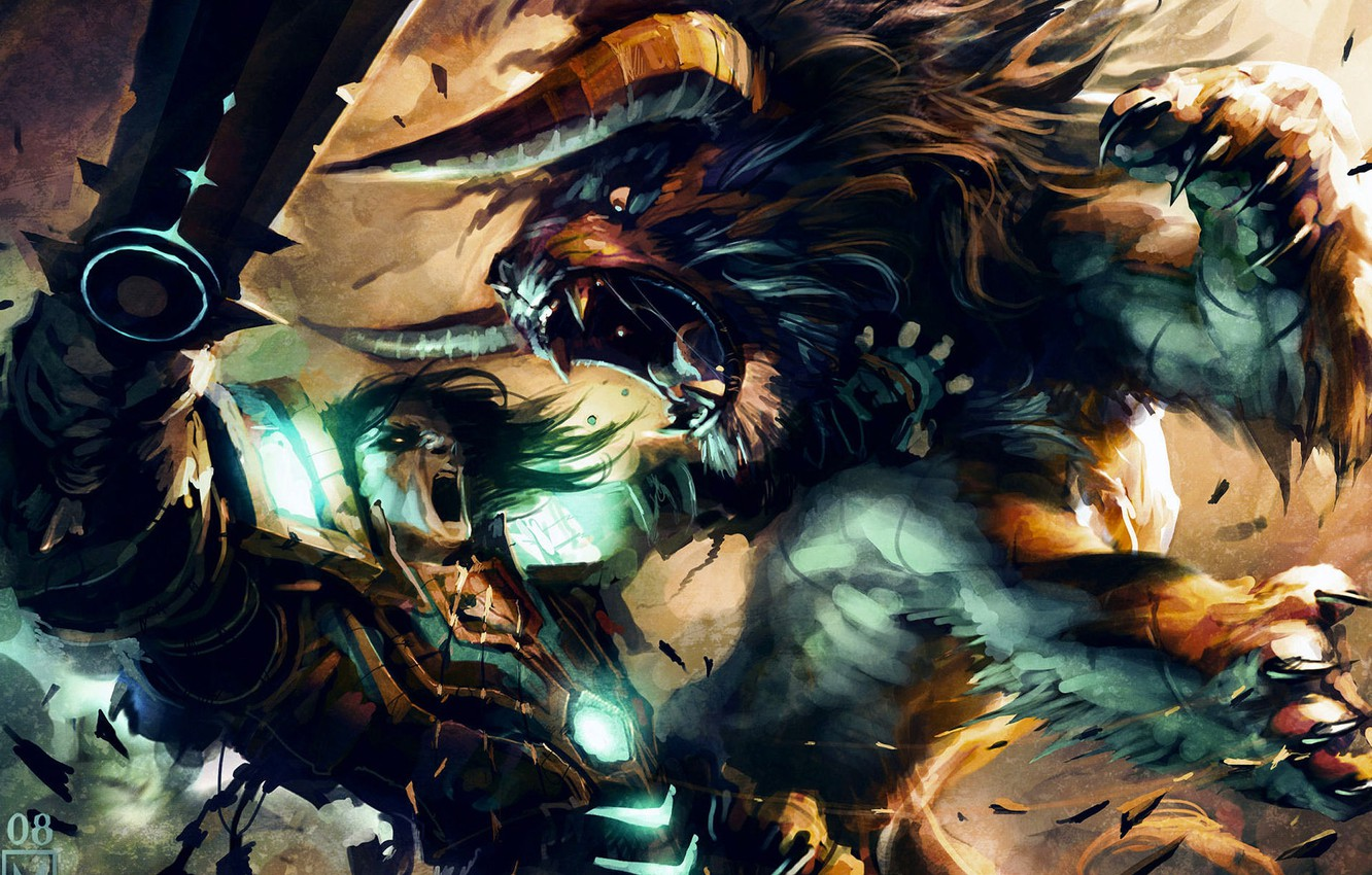 Photo wallpaper Cat, Battle, World of Warcraft, Druid, fight, Trading Card Game