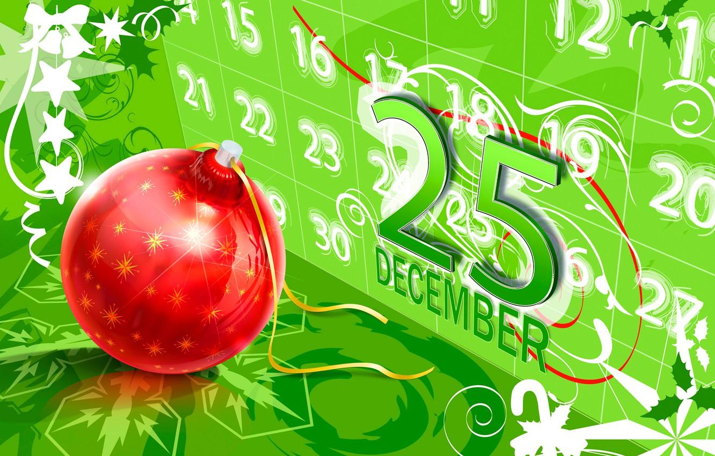 Photo wallpaper vector, ball, Christmas, calendar, postcard