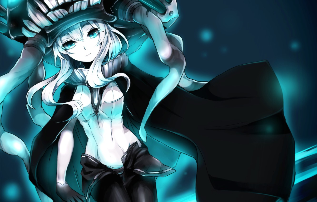 Photo wallpaper girl, hat, anime, art, the tentacles, kantai collection, wo-class aircraft carrier, ambient, chizuru
