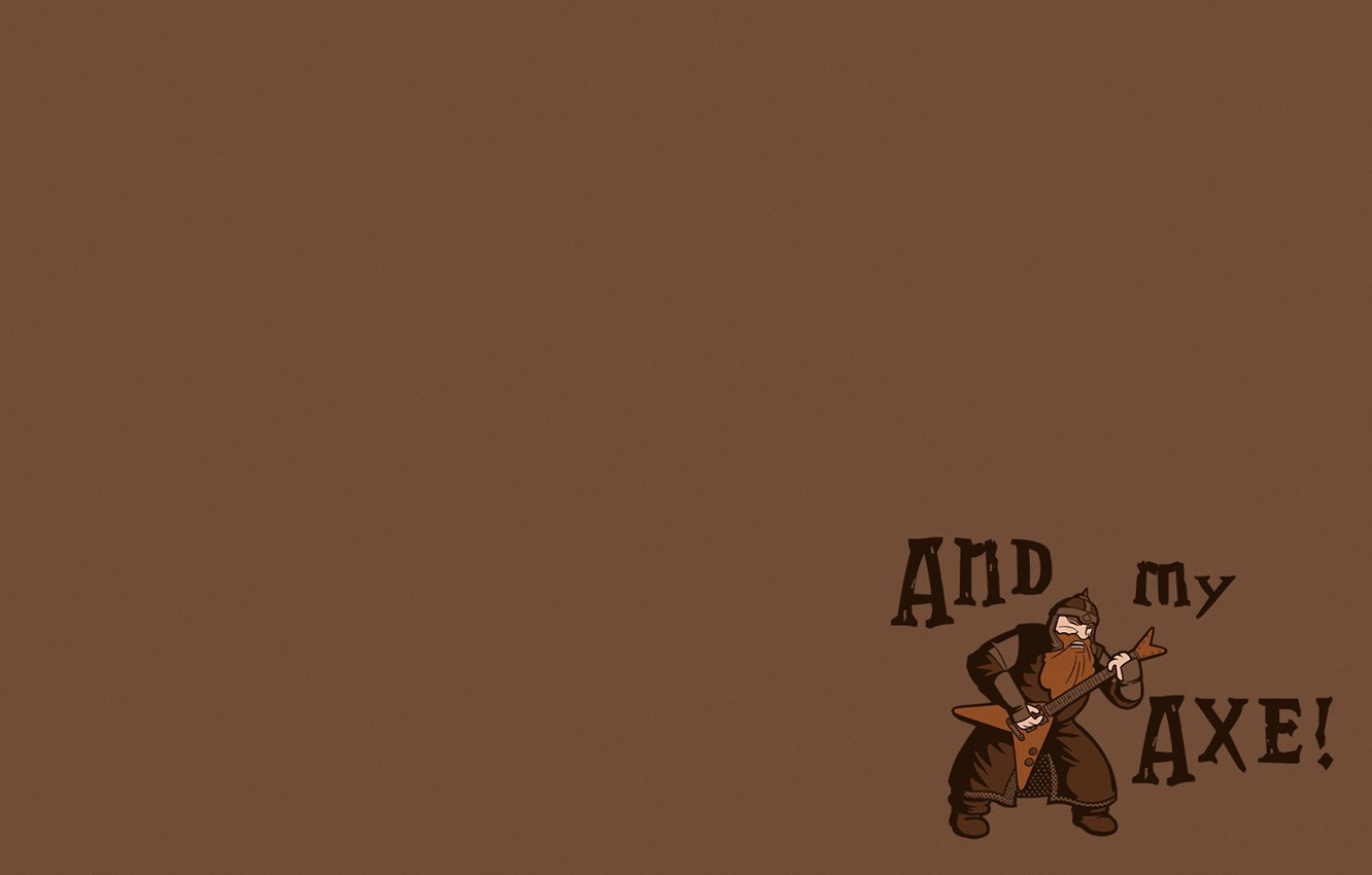 Wallpaper guitar, minimalism, The Lord Of The Rings, dwarf ...