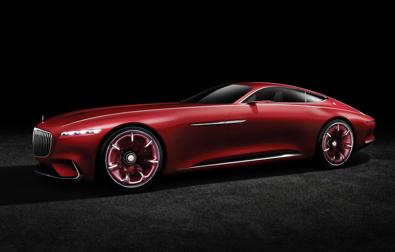 Photo wallpaper car, wallpaper, Mercedes, red, Maybach, beauty, comfort, luxury, automobiles, vehicle, official wallpaper, desing, bold lines, …