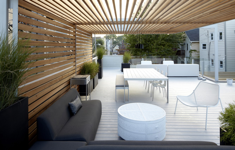 Photo wallpaper patio, patio, white furniture