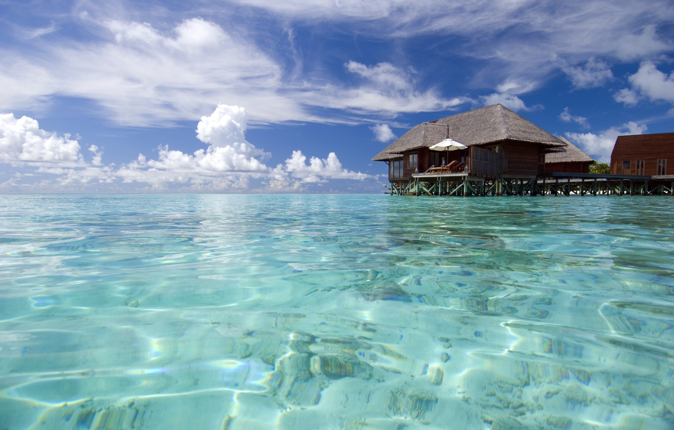Photo wallpaper nature, the ocean, stay, relax, The Maldives, exotic, islands Maldives