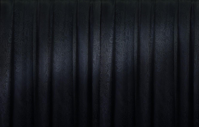 Photo wallpaper twilight, fabric with flower pattern, strip light