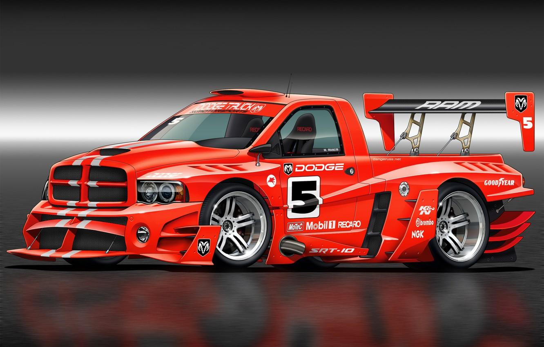 Photo wallpaper art, Dodge, Dodge, front, race car, Ram, kit