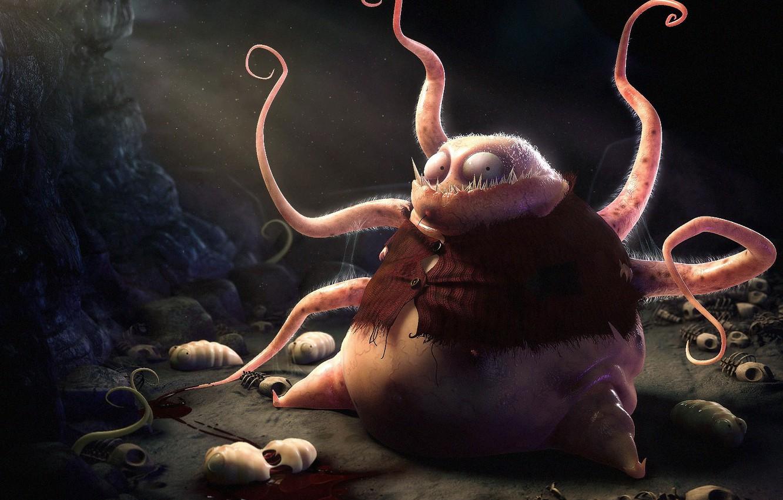 Photo wallpaper monster, tentacles, larvae