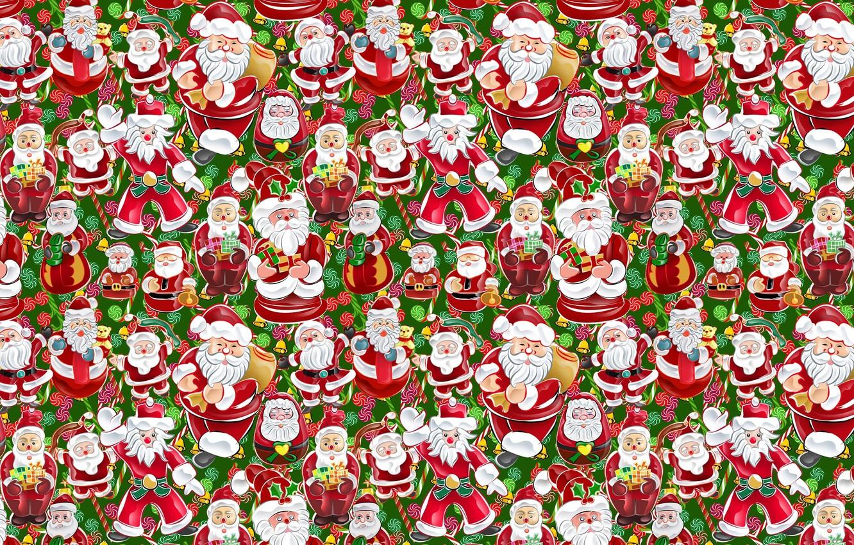 Photo wallpaper figure, new year, gifts, Santa Claus, Santa Claus, texture, a lot, box