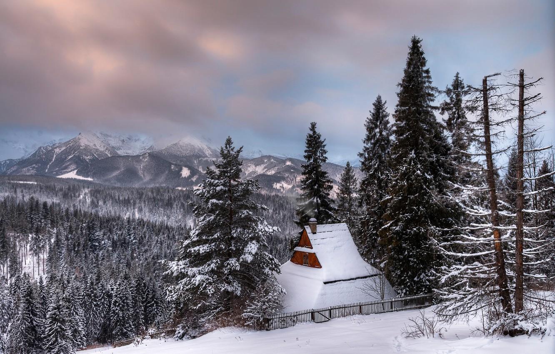Photo wallpaper winter, Poland, Zakopane