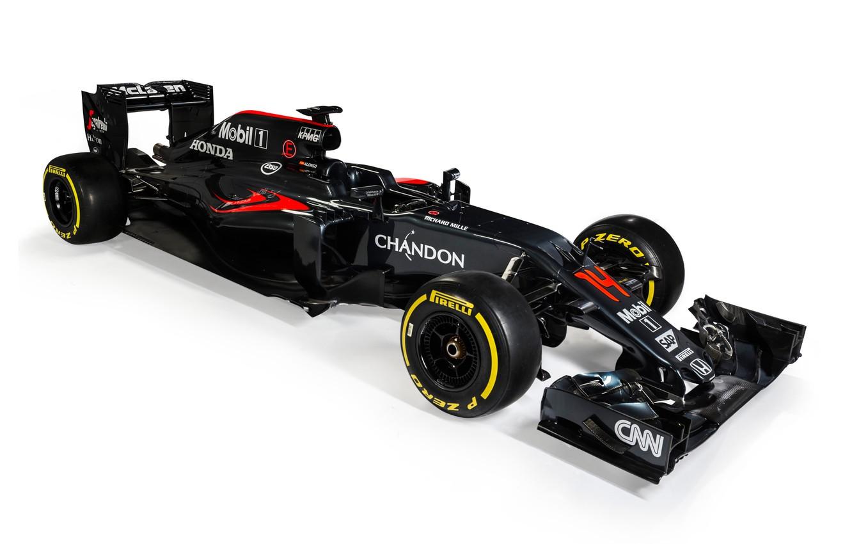 Photo wallpaper McLaren, white background, formula 1, the car, Honda, Formula 1, Honda, McLaren, MP4-31