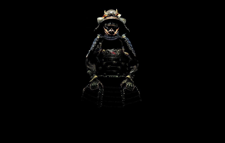 Photo wallpaper shadow, samurai, costume