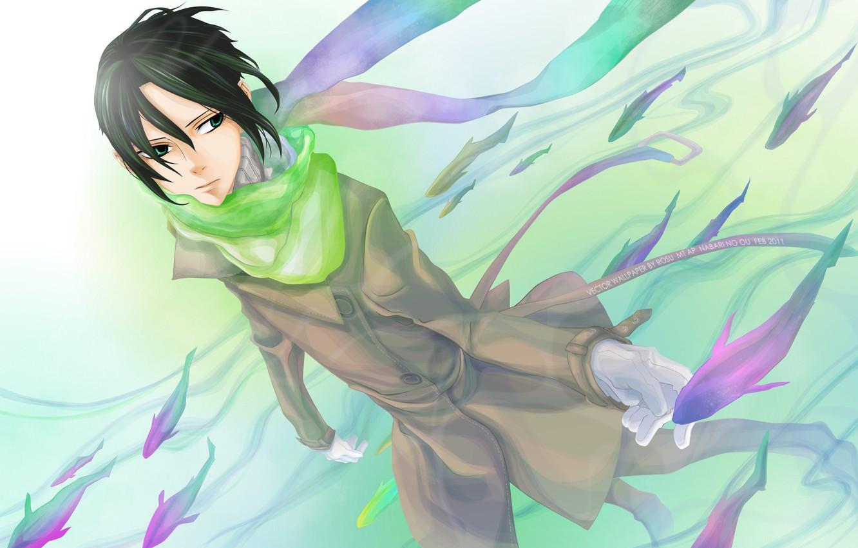 Photo wallpaper fish, anime, art, guy, The King of Nabari