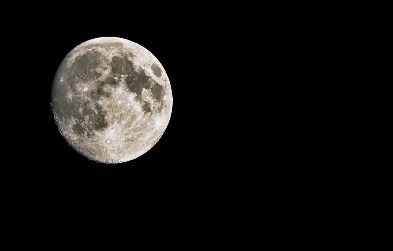 Photo wallpaper the moon, satellite, black background