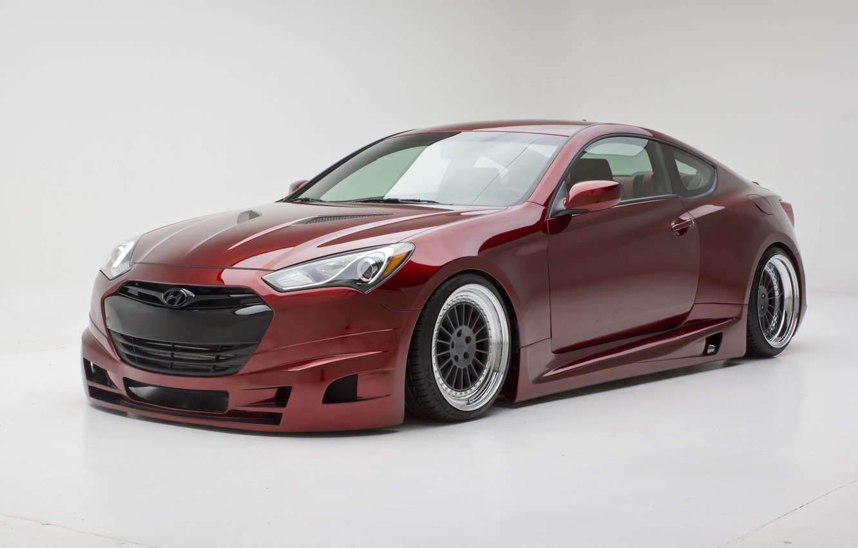 Photo wallpaper Hyundai, cars, Coupe, tuning, Genesis