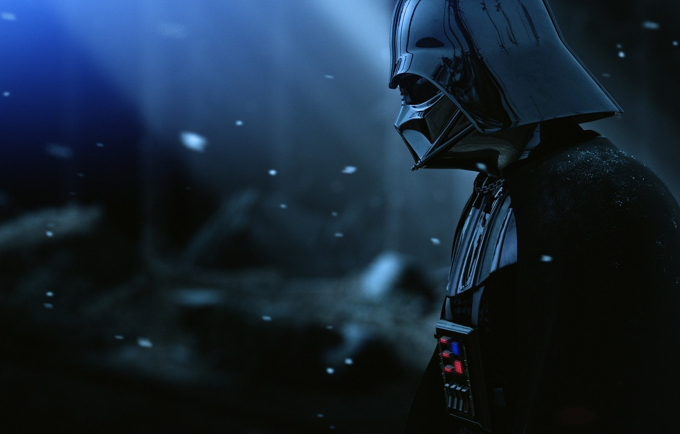 Photo wallpaper Star Wars, Darth Vader, Snow, Movie, Film, Pearls, The Force Unleashed II, Armor