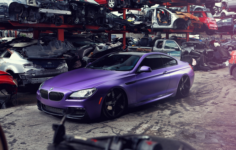 Photo wallpaper BMW, BMW, dump, purple, purple