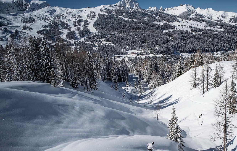 Photo wallpaper snow, sport, ski, mountain