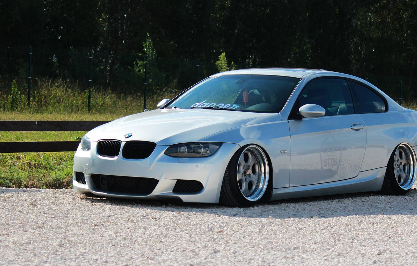 Photo wallpaper bmw, BMW, turbo, wheels, tuning, power, front, face, germany, low, e92, stance