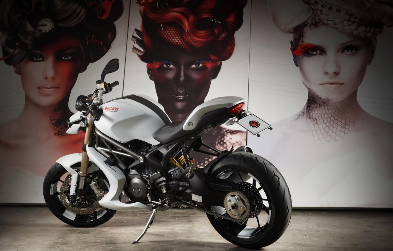 Photo wallpaper face, motorcycle, bike, Ducati, Monster 1100 EVO