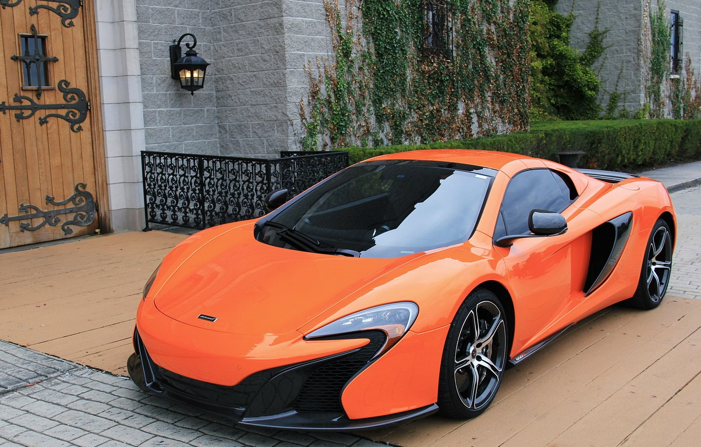 Photo wallpaper McLaren, Orange, house, 650