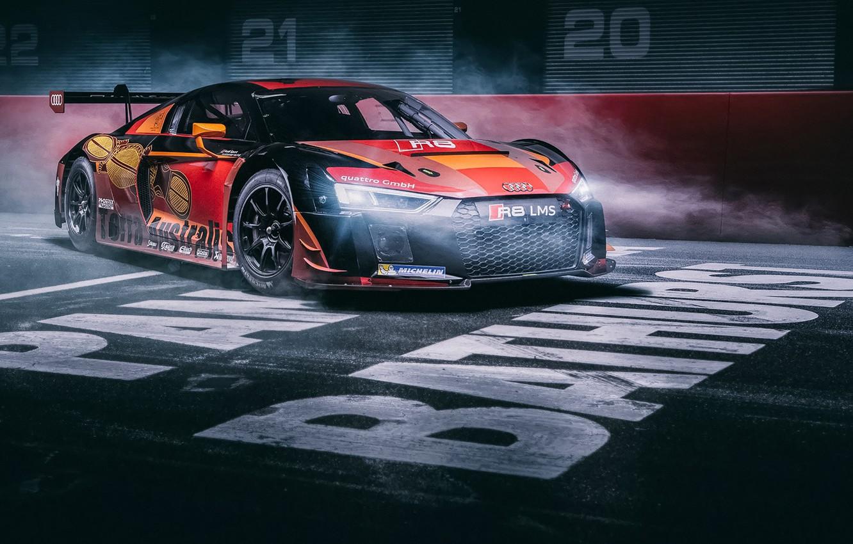 Photo wallpaper Audi, Light, Race, LMS, Supercar, Track