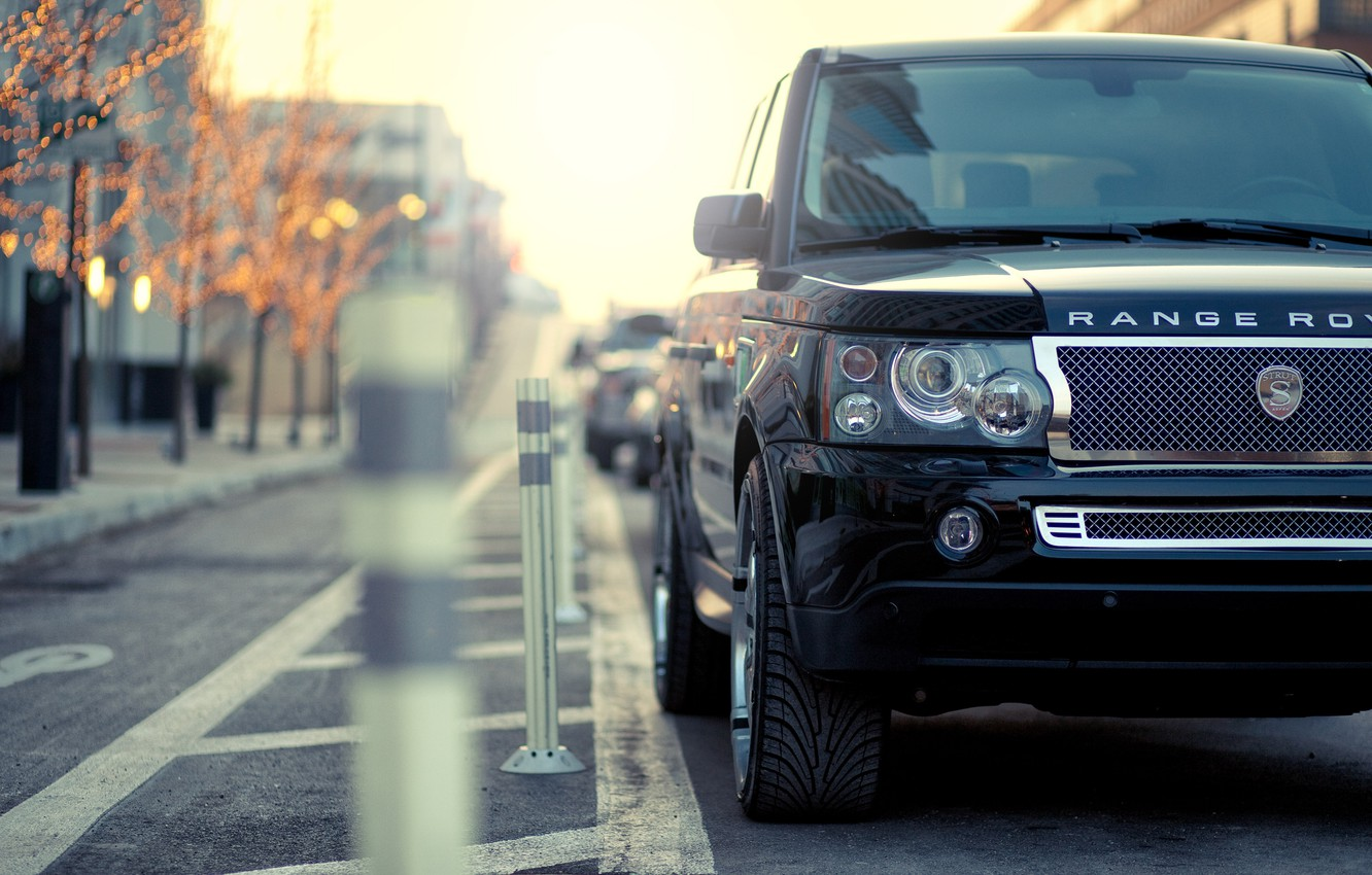 Photo wallpaper the city, Parking, range rover, range Rover