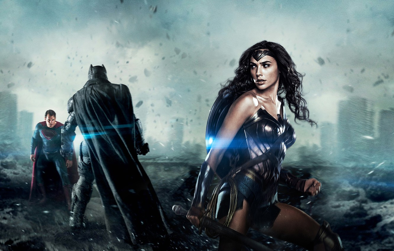 Wallpaper Henry Cavill Gal Gadot Ben Affleck Batman V Superman