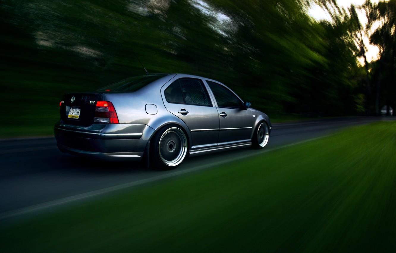 Photo wallpaper grey, tuning, volkswagen, Volkswagen, stance, jetta, MK4, Jetta
