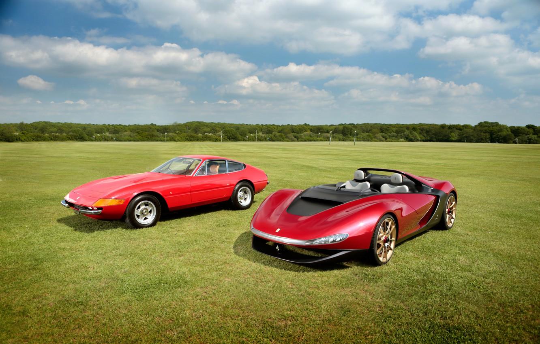 Photo wallpaper Ferrari, Ferrari, 365, 1973, 2013, Daytona, Sergio, GTB/4