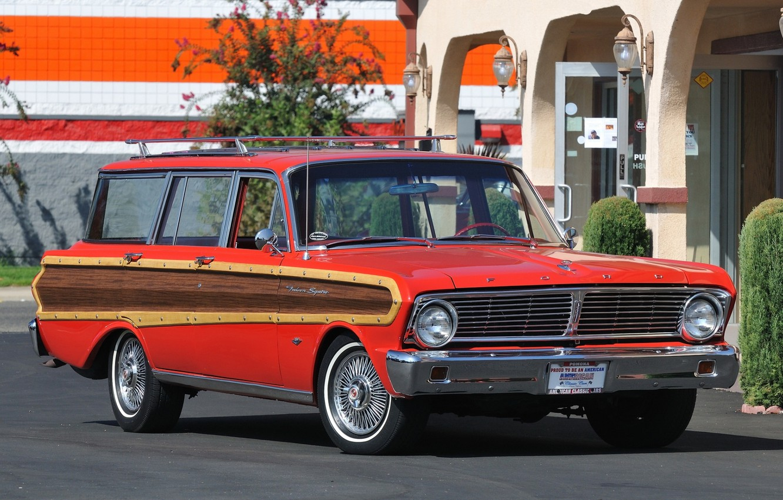 Photo wallpaper Ford, Ford, 1965, Falcon, Futura, Station Wagon, 4-door, Falcon