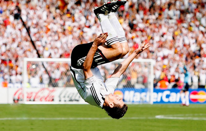 Photo wallpaper football, Germany, Germany, football, flip, soccer, Germany, Gool, World Cup, Miroslav, Klose