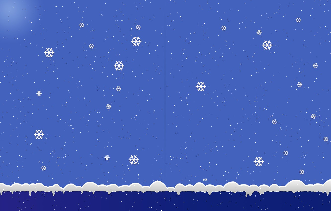Photo wallpaper snowflakes, background, new year