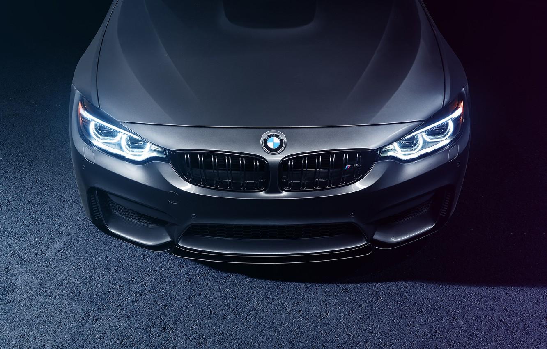 Photo wallpaper BMW, Light, Car, Front, Bridge, Parking, Mode, Carbone