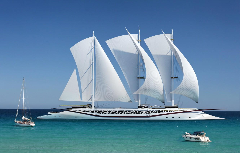 Photo wallpaper sea, concept, boat, Phoenicia, yacht Phoenicia