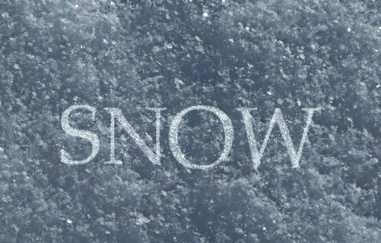 Photo wallpaper light, Snow, crystals, snow