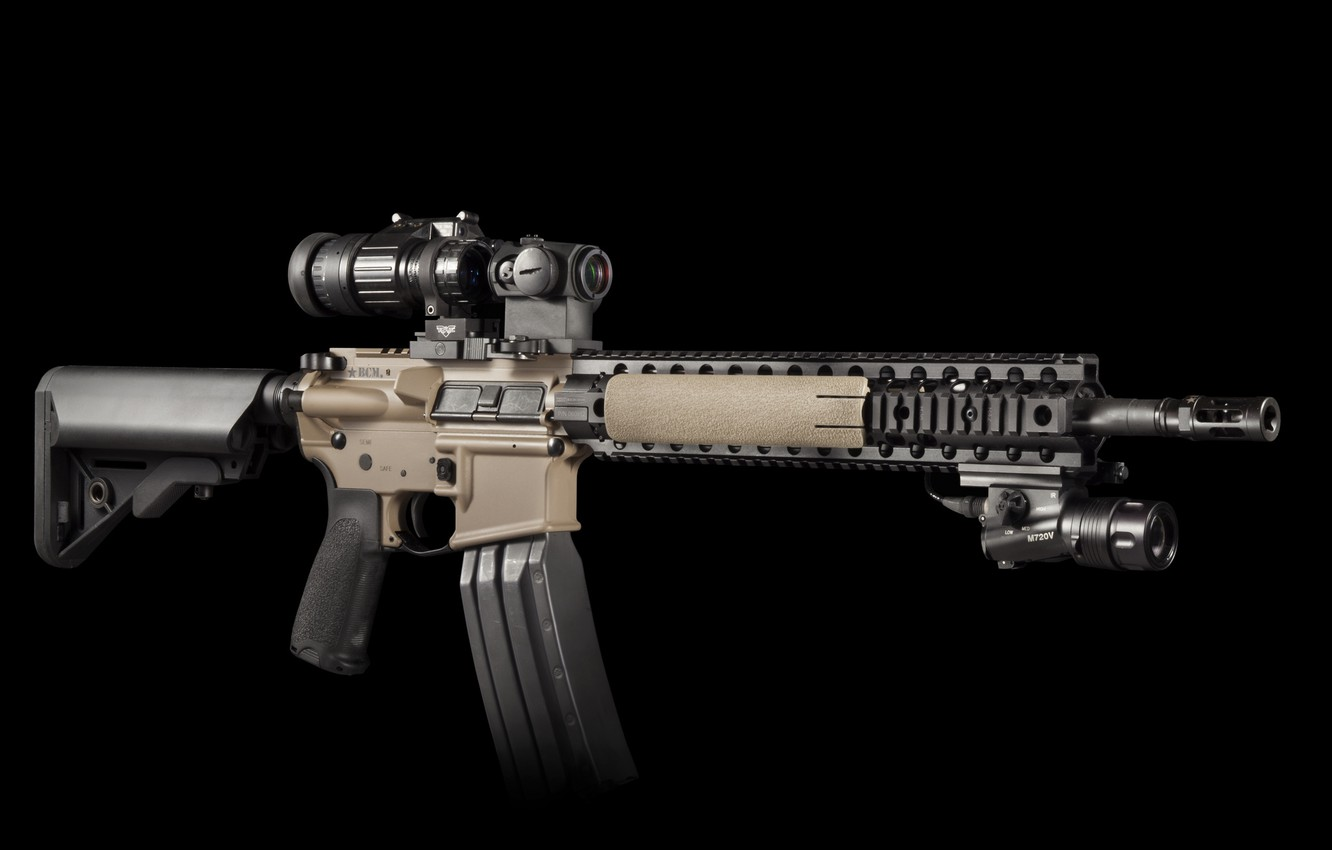 Photo wallpaper weapons, background, rifle, carabiner, assault, semi-automatic