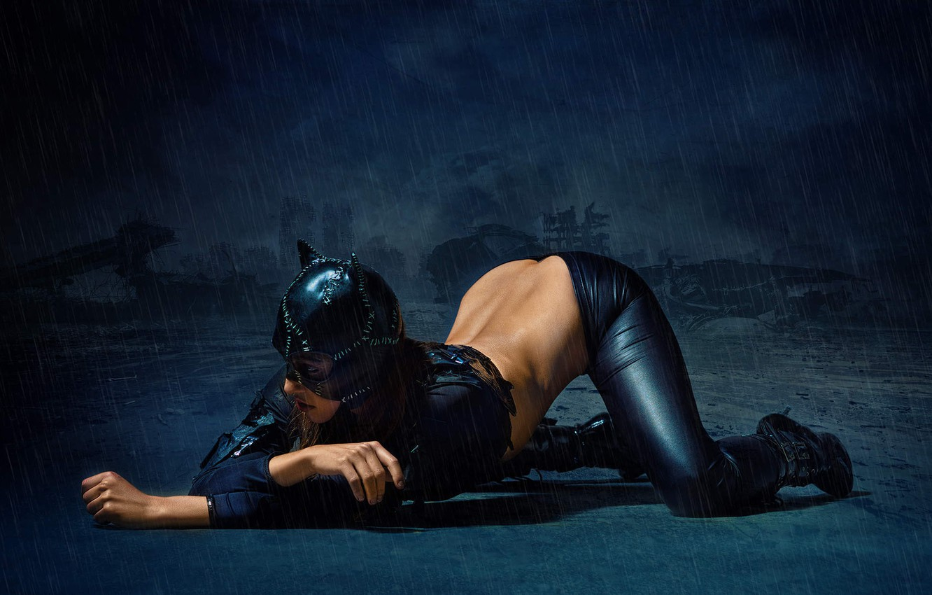 Photo wallpaper cat, woman, mask, image, catwoman, Stefan Gesell