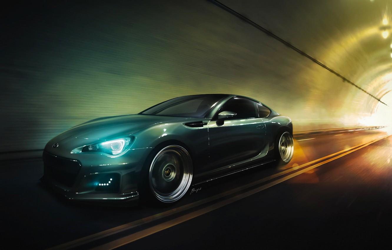 Photo wallpaper Subaru, Light, Car, Speed, Sport, BRZ, Stance, Low, Wheels, to Martin Borycki