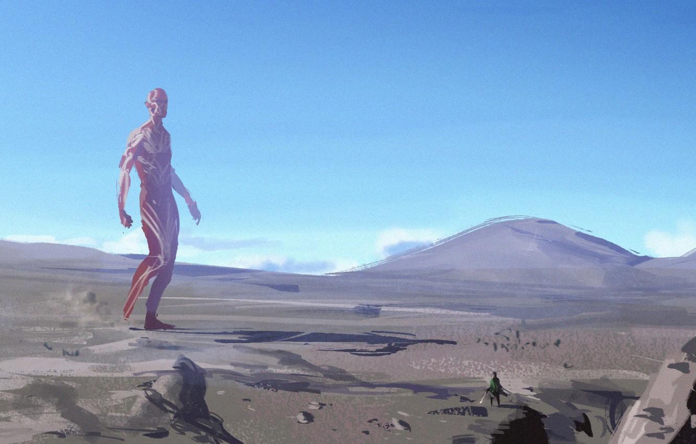 Wallpaper The Sky Landscape Anime Attack On Titan Shingeki No Kyojin Titan Images For Desktop Section Filmy Download