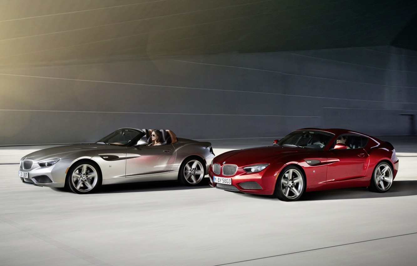 Photo wallpaper red, background, Roadster, silver, BMW, BMW, Coupe, the front, Coupe, Zagato, Zagato, Roadster
