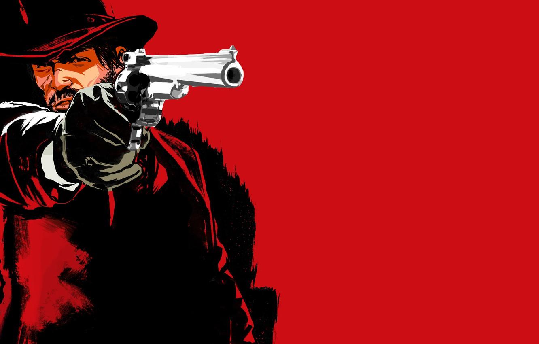 Photo wallpaper gun, revolver, shooter, Red Dead Redemption
