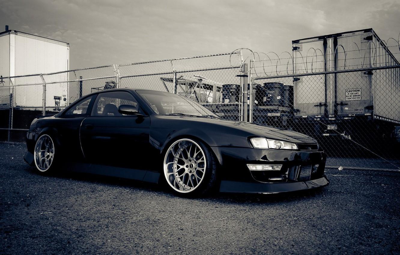Photo wallpaper car, machine, auto, table, Wallpaper, tuning, nissan, black, drift, drift, car, black, cars, style, Nissan, …
