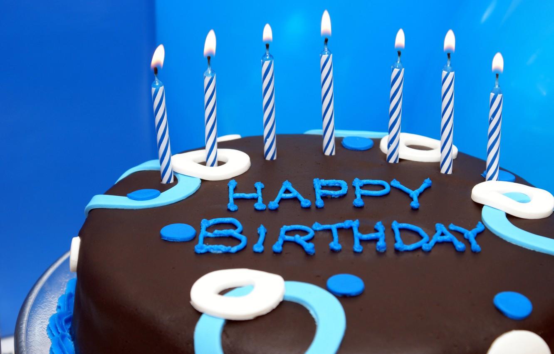 Photo wallpaper birthday, candles, cake, cake, Happy, Birthday