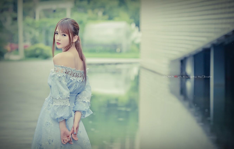 Photo wallpaper girl, style, Asian