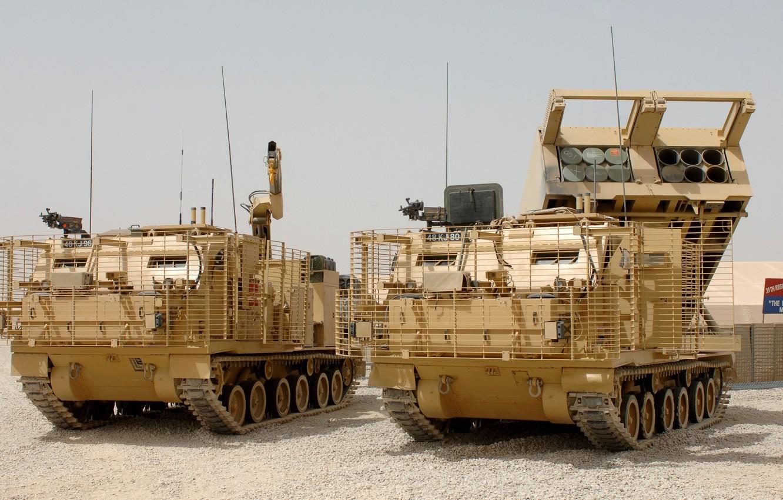Wallpaper gun, weapon, machine gun, heavy weapon, MLRS, M270