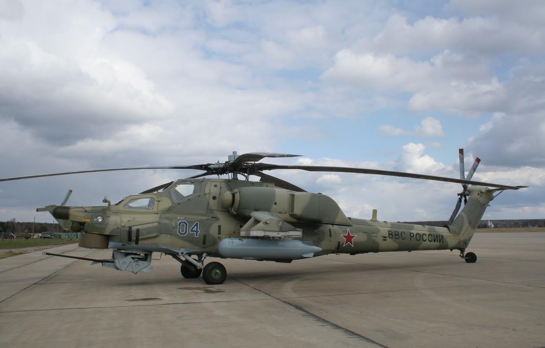 Photo wallpaper Helicopter, Russia, Mi-28