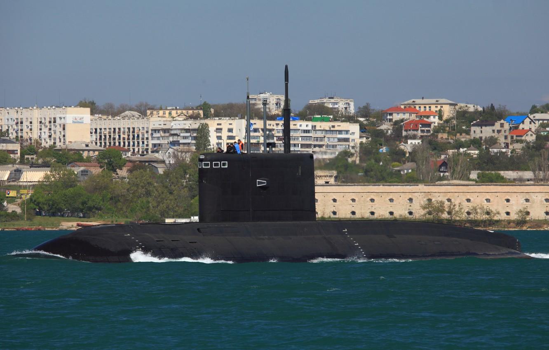 Photo wallpaper boat, underwater, diesel, Sevastopol, 636.3 project