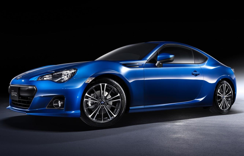 Photo wallpaper blue, sports car, twilight, subaru, drives, the front, Subaru, brz, 2.0s, quick