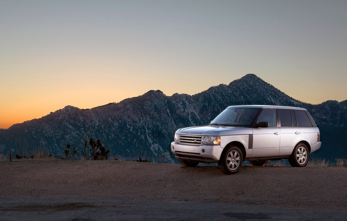 Photo wallpaper road, landscape, mountains, machine, cars, cars, range rover, free pictures with cars, 1920x1200 auto